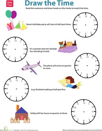 Time Worksheets time worksheets quarter past : Worksheets, Draw and The times on Pinterest