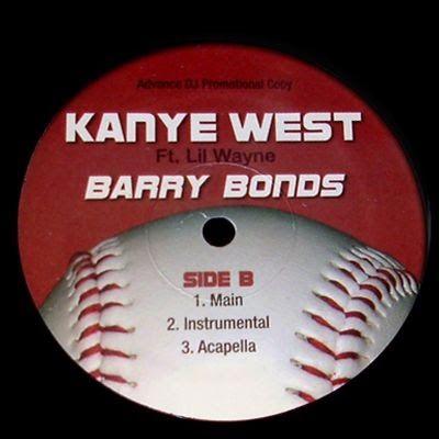 Kanye West, Lil Wayne – Barry Bonds (single cover art)