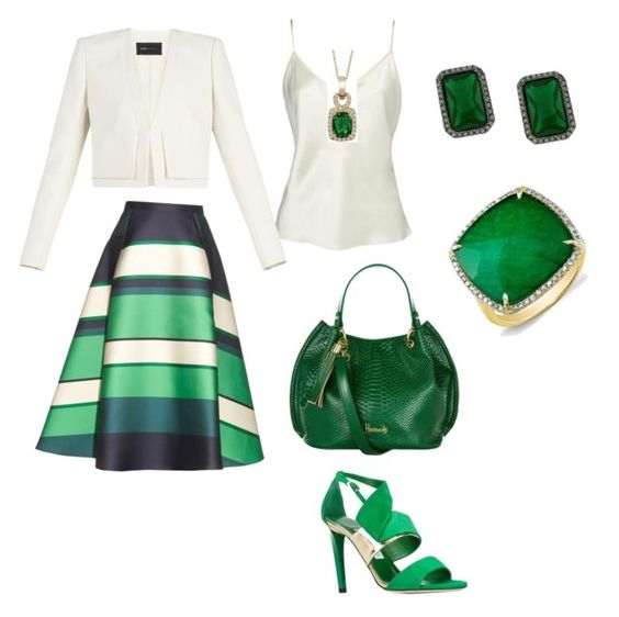 """""""Green touch"""" by miry411 on Polyvore featuring beauty, Lanvin, BCBGMAXAZRIA, Jimmy Choo, Harrods, Vince Camuto and LE VIAN"""