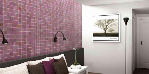 Mosaique 33x33cm Carrelage Decore Violet Lila As De Carreaux