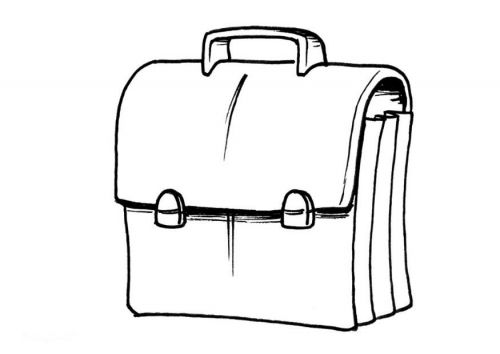 Coloriage cartable a imprimer pinterest - Cartable dessin ...