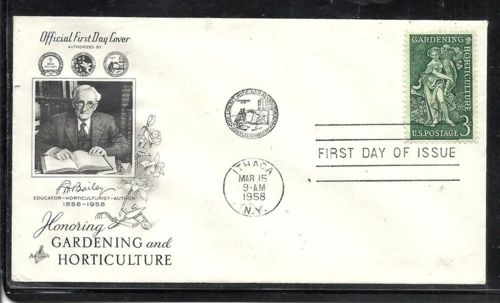 United States #1100-3 Gardening first day cover. Erased address. Artcraft cacheted and addressed. Cover may or may not have toning expecially along the seam lines on back, See scan for centering and perfs. Any disocloration that may appear is from the scan and not the cover. Has no defects unless otherwise indicated. Satisfaction guaranteed with a ten day return privelege if not satisfied for any reason. Pay shipping only once no matter how many lots are won. Pay Pal gladly accepted.