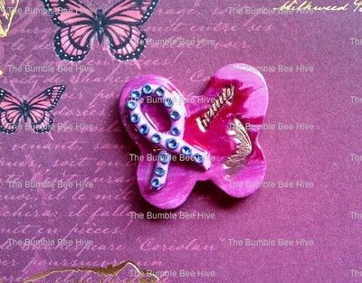 These darling butterflies can be used for several projects, or as jewelry. Let your imagination lead you! Made with polymer clay, I can modify color, blend, embellishments etc. Priced at $4.25 per piece. Let me customize yours today!