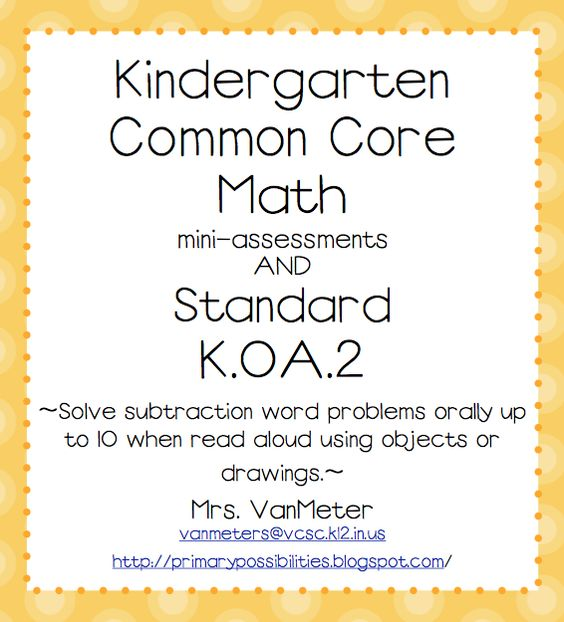 FREE Common Core - Math Mini-Assessments - Go to http://pinterest.com/TheBestofTPT/ for this and thousands of free lessons.