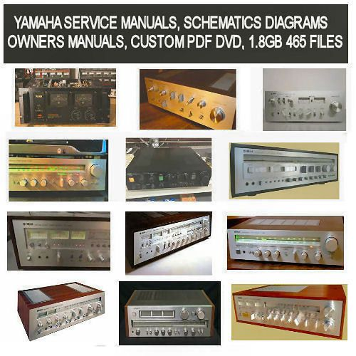 Yamaha Service Manuals Schematics Owners Manuals Custom Pdf Dvd Ebay Owners Manuals Manual Custom
