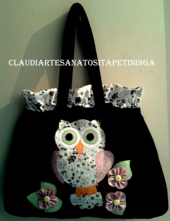 bolsa com patch aplique