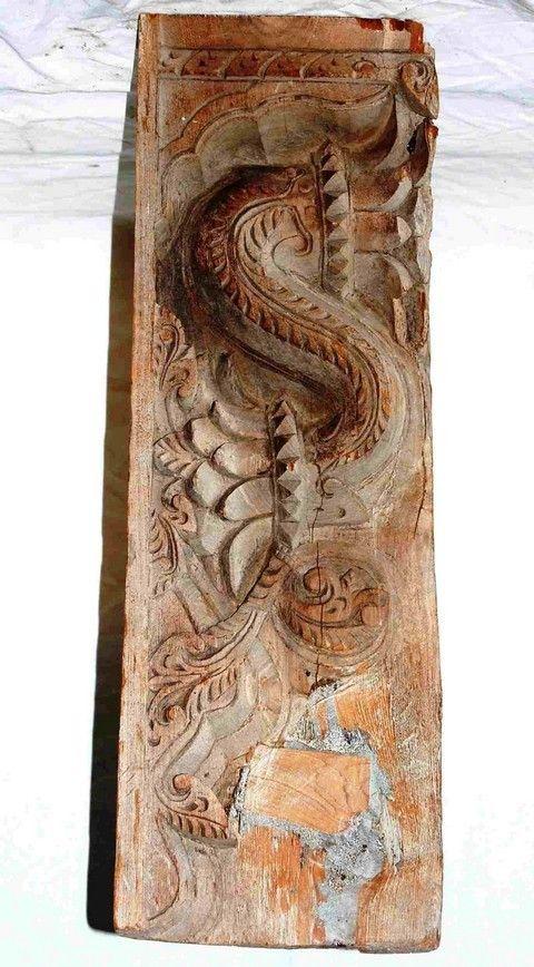 955 003 Indian Brown Wood Bracket, Old World Imports Furniture