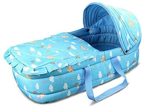 Olpchee Portable Baby Carrycot Baby Travel Bed Crib Infant Transporter Basket With Double Handle For Baby Travel Bed Portable Baby Bassinet Portable Baby Cribs