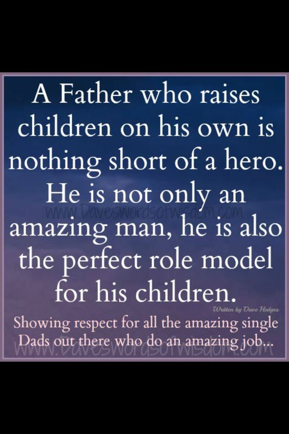 Single Dads..this explains it all