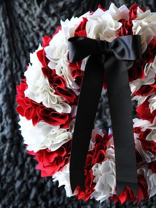 Fabric Christmas wreath