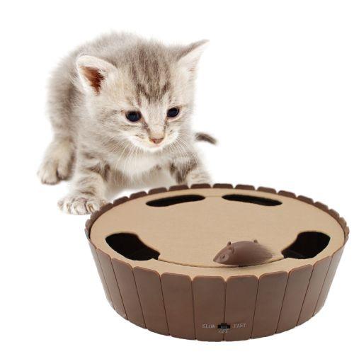 電動ぐるぐるマウス ブラウン  日本初上陸・人気NO.1♪ 電動ネズミおもちゃ 猫おもちゃ 電動おもちゃ ひとりで遊べる【楽天市場】