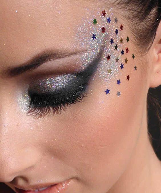maquiagem-carnaval-brilho-estrelinhas-glitter:
