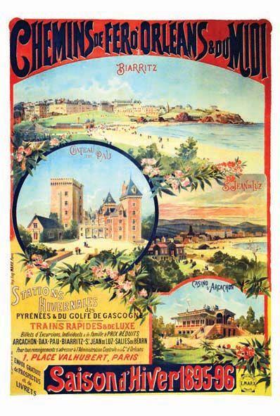 Biarritz - Château de Pau - St-Jean-de-Luz - Casino d'Arcachon