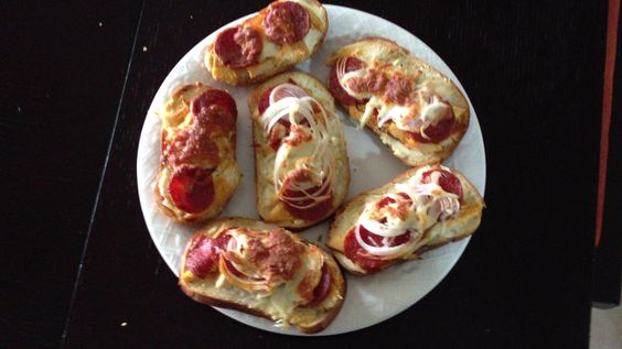 Pizza bread with ricotta cheese Parmesan chicken and pepperoni