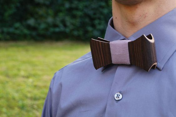 Ebony Wood Bow Tie