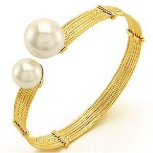 Bracelete Com Duas Pérolas Chanel Inspired Semi-joia