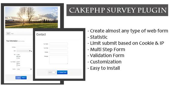 CakePHP Survey Form Generator Plugin  This script is a CakePHP - survey form template