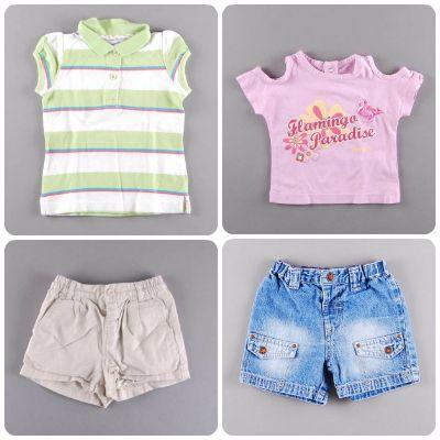 Shorts + camiseta= el look del verano, también para las más peques http://www.quiquilo.es/46-9-meses