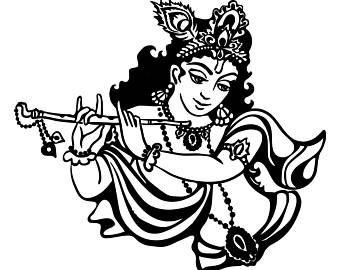 Beautiful Lord Krishna Black White Image Lord Krishna Krishna Images Lord Krishna Images