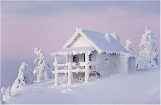 when it snows like this just resign yourself to digging out!!...Lapland. Finland.: