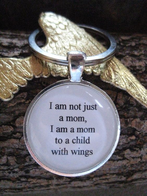 Child With Wings Key Ring, mom of an angel, child memorial gift, baby memorial gift, child loss, miscarriage, stillbirth, handmade