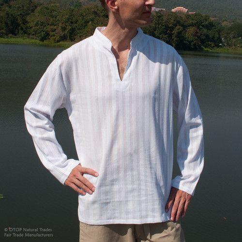 Pinterest the world s catalog of ideas Mens grandad collar shirt