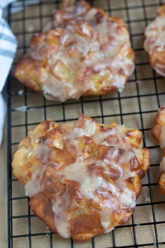 Air Fryer Apple fritters with Brown Butter Glaze