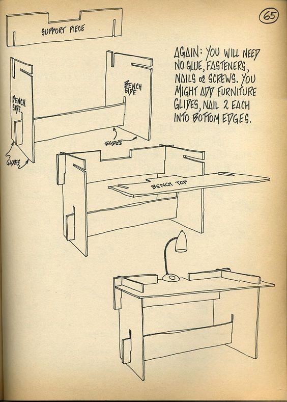 Escritorio armable muebles de cart n pinterest for Muebles de carton pdf