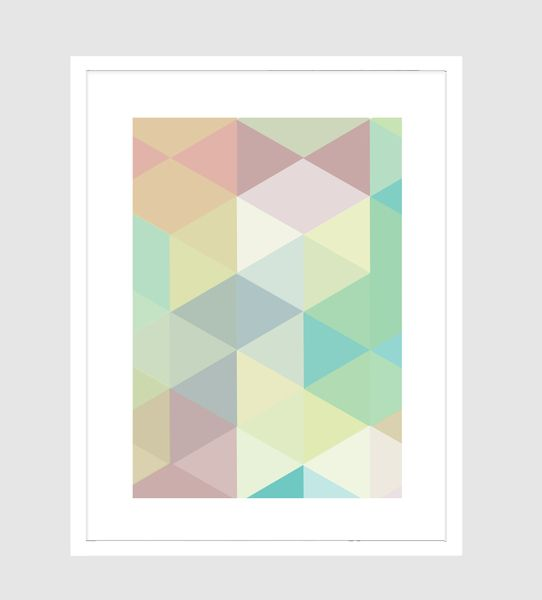 Mellita Pastell Geometrik von XOXO ARTE - Happy Walls! auf DaWanda.com