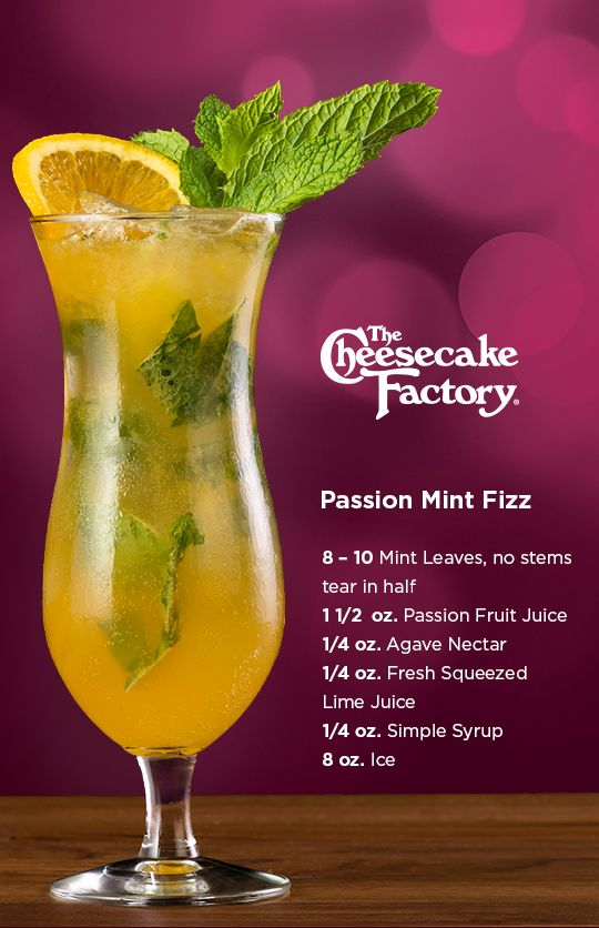 Passion Mint Fizz Drinks Alcohol Recipes Spritzer Recipes Mint Drink