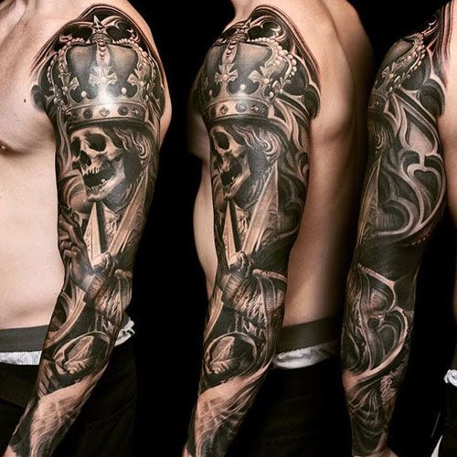 125 Best Sleeve Tattoos For Men Cool Ideas Designs 2020 Guide Skull Sleeve Tattoos Tattoo Sleeve Men Tattoos For Guys