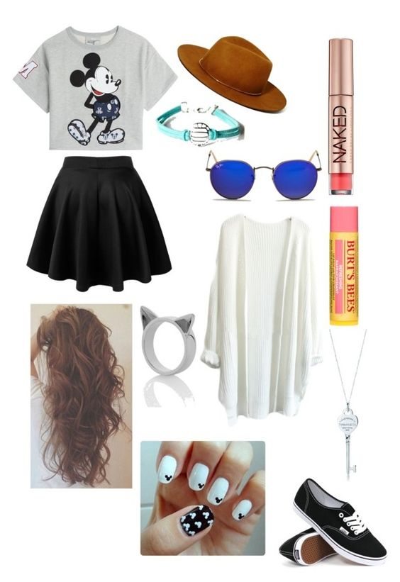 """""""Outfit #7"""" by prayonalexis ❤ liked on Polyvore featuring Janessa Leone, Ray-Ban, Paul & Joe Sister, Urban Decay, Burt's Bees, Meadowlark, Tiffany & Co. and Vans"""