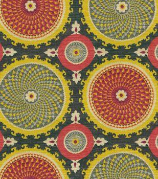 Waverly Upholstery Fabric-Bohemian Swirl/Fiesta