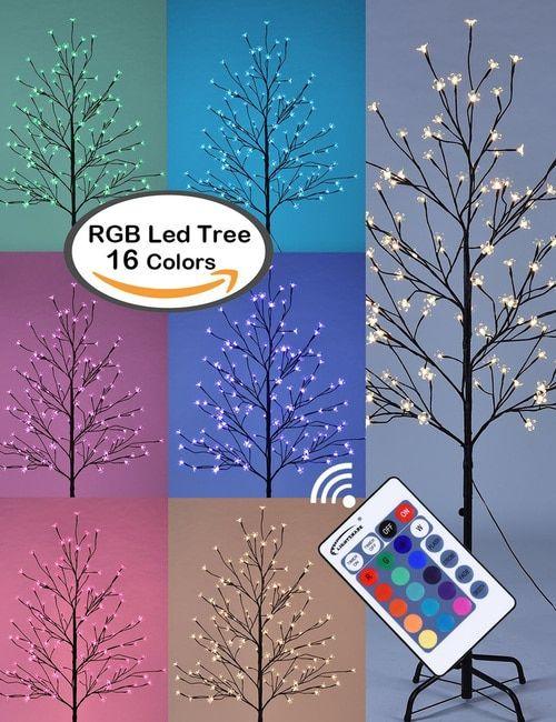 Cherry Blossom Lighted Tree Five Feet Warm White Color Changing Modes Cherry Blossom Light Tree Tree Lighting Led Star Lights