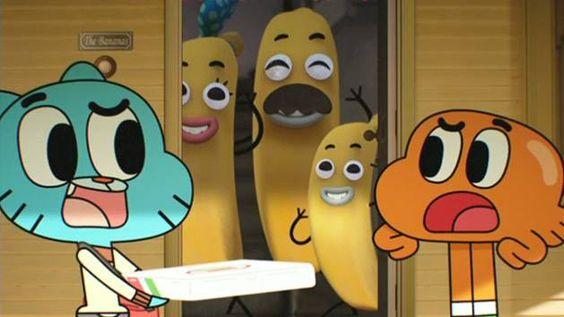 El Asombroso Mundo de Gumball. En casa de Banana Joe son muy fans de las pizzas... :)