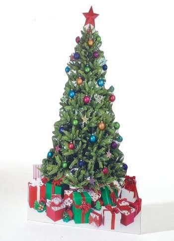Pappaufsteller Weihnachtsbaum 190x100 cm (H/B)