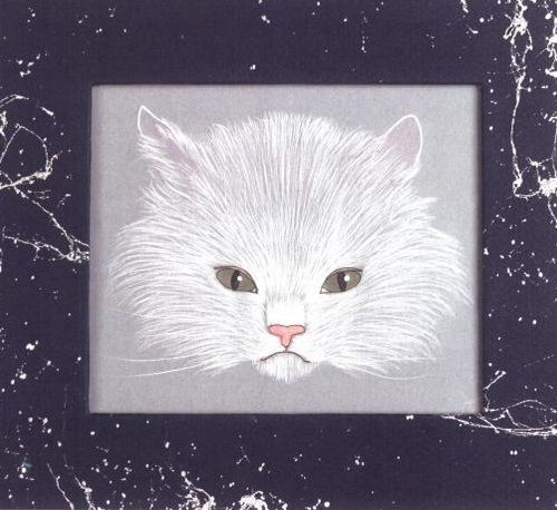 Imagem do gato feita na técnica pergamano--via vsemart.com