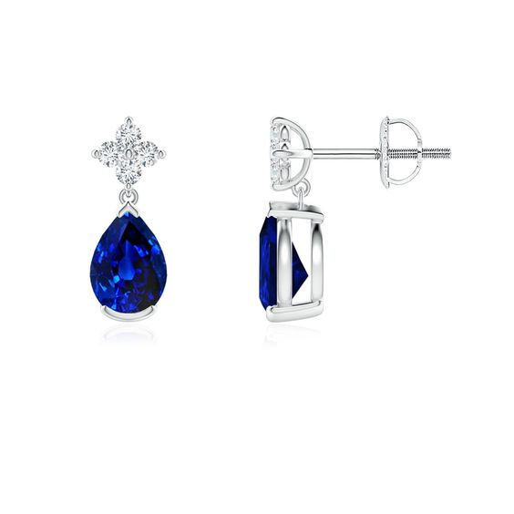 Cornflower Blue Sapphire Madagascar Sapphire Burma Sapphire Royal Blue Sapphire Vivid Blue Saphire Blue S Sapphire Jewelry Sapphire Earrings Drop Earrings