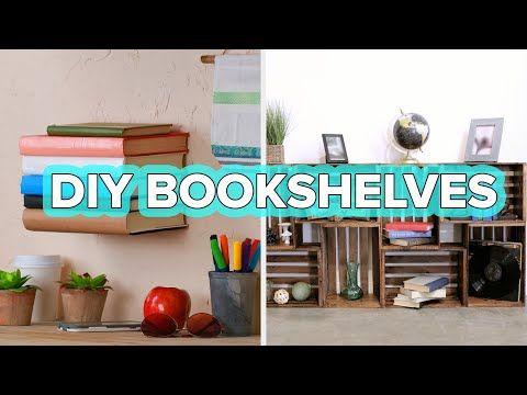 5 Bookshelves You Need In Your Life Youtube Nifty Diy Bookshelves