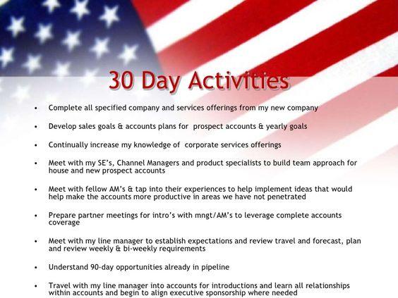 30 60 90 Day Sales Plan   30 60 90 Day Plan   Pinterest
