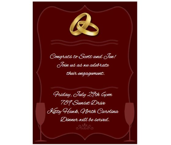 Download this Engagement Party Invitation Card and other free – Online Engagement Invitation Cards Free