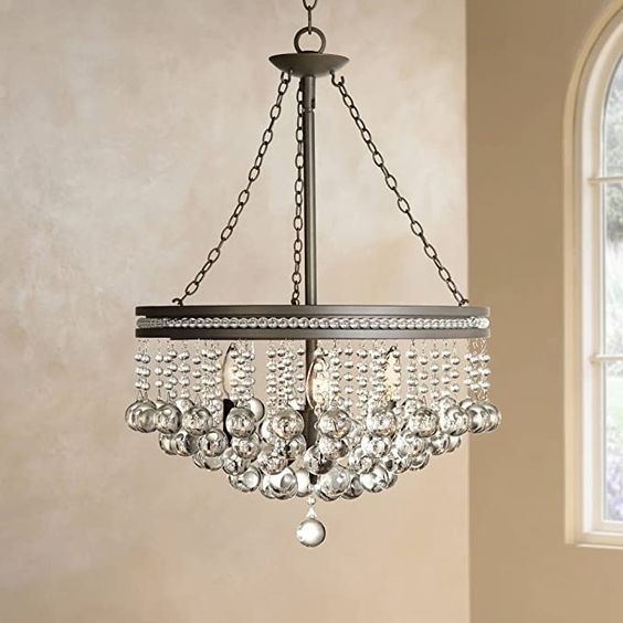 Regina Olive Bronze Pendant Chandelier 19 Wide Clear Crystal Baubles 3 Light Fixture For Dining Room House Foye In 2020 Crystal Chandelier Small Chandelier Lamps Plus