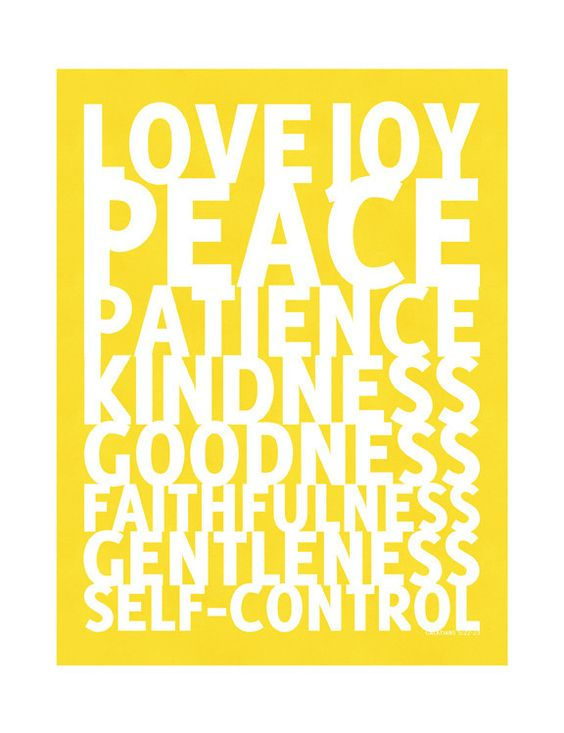 This feels like a meditation. :: Fruit of the Spirit Print from Olive Manna