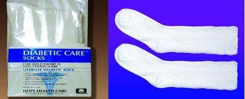 Diabetic Socks-Extra Large (11-13) (Pair) White