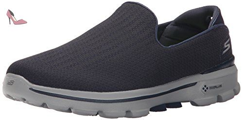 Go Walk 3 Unfold, Sneakers Basses Femme, Black (BBK), 38 EUSkechers