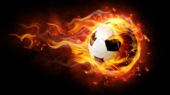Soccer Fire Ball Desktop Backgrounds