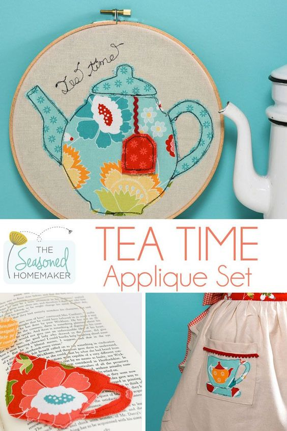 Are you looking for a simple sewing project that is perfect for Mother's Day or a Teacher's Gift. Make something simple and lovely for Mother's Day or your favorite teacher with the Tea Time Appliqué Set. Start and finish your personalized Mother's Day and Teacher's gifts today. Let this appliqué project inspire your creativity.
