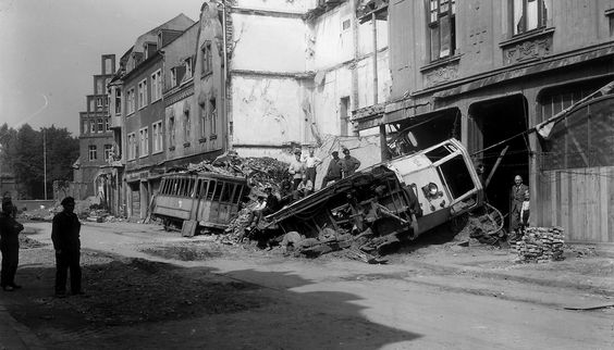 Results of allied bombing of the German city of Gladbeck, 1943.