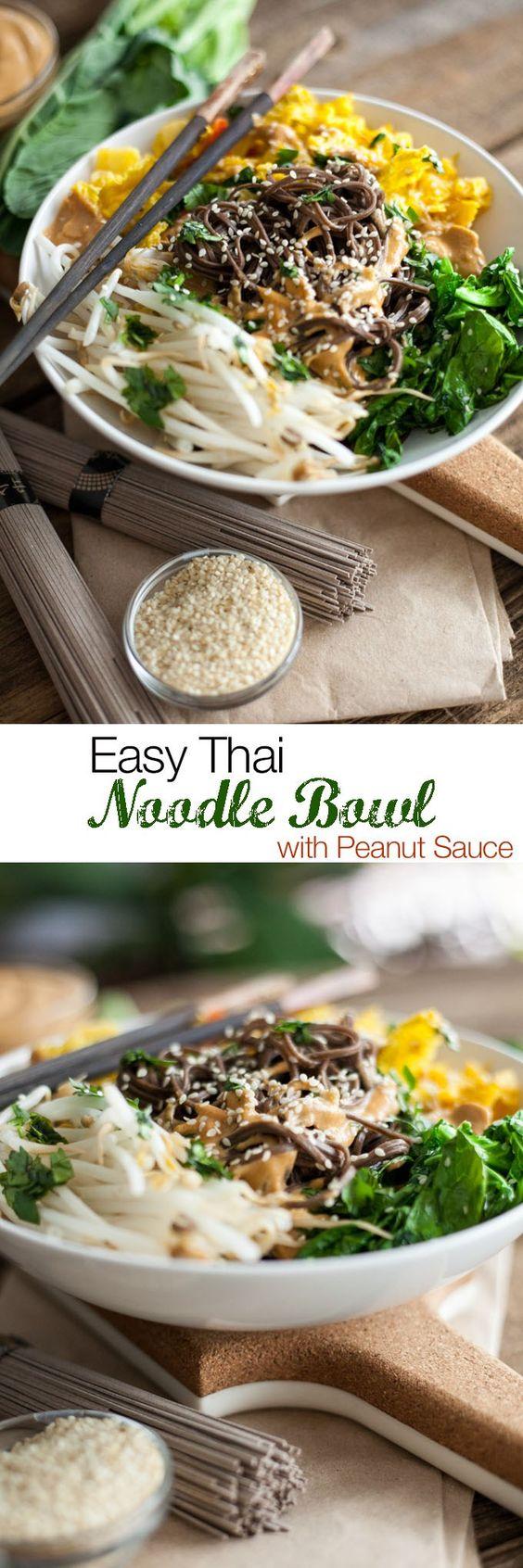stir fry thai veggie soba noodle bowls thai pork rice bowl thai noodle ...