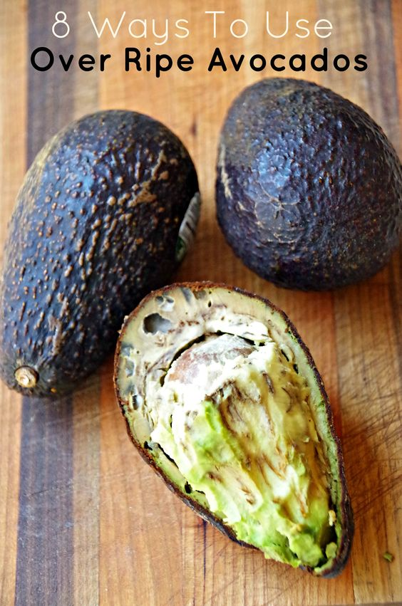 What To Do With Over Ripe Avocados